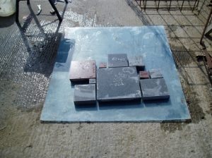 Some of the granite pieces